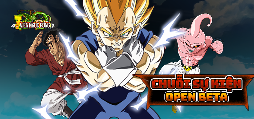 ... tham gia vào thế giới rộng lớn của 7 Viên Ngọc Rồng. BQT xin gửi tới  toàn thể chư vị bằng hữu Chuỗi Sự Kiện Open Beta mừng ra mắt máy chủ mới.